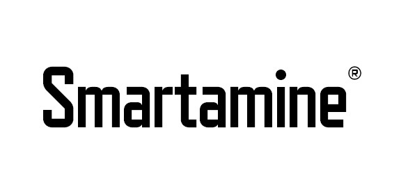 Smartamine registered mark nutritional efficiency animal nutrition and health logo isolated on white background